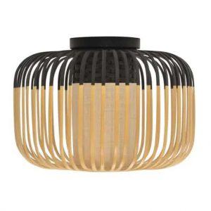 Zwarte bamboe plafondlamp light S van forestier