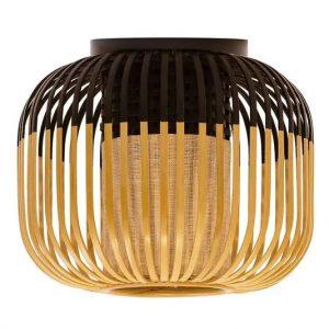 Zwarte bamboe plafondlamp light xs van forestier