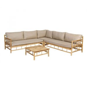 Bamboo loungeset 4-delig van Exotan