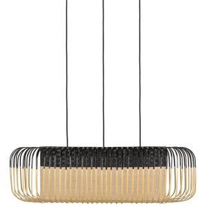 Bamboe hanglamp oval m zwart van forestier