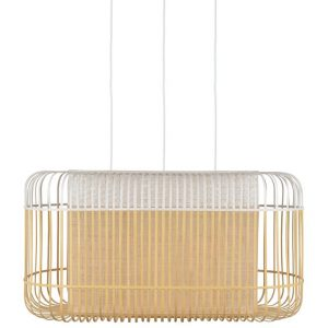Bamboe hanglamp oval wit xl van forestier