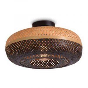 Bamboe plafondlamp palawan naturel zwart small van Good&Mojo