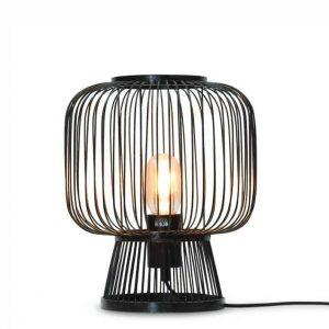 Bamboe tafellamp cango zwart van Good&Mojo