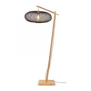 Bamboe vloerlamp cango naturel zwart van Good&Mojo