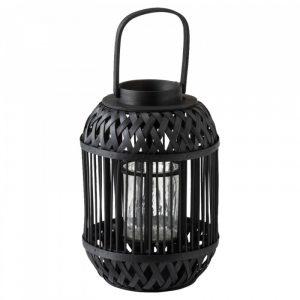 Zwarte bamboe lantaarn cilinder small van J-line