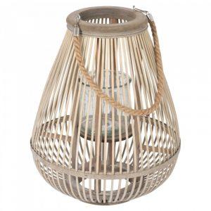 Bamboe lantaarn peervorm medium van J-line