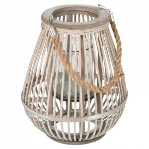 Bamboe lantaarn peervorm small van J-line