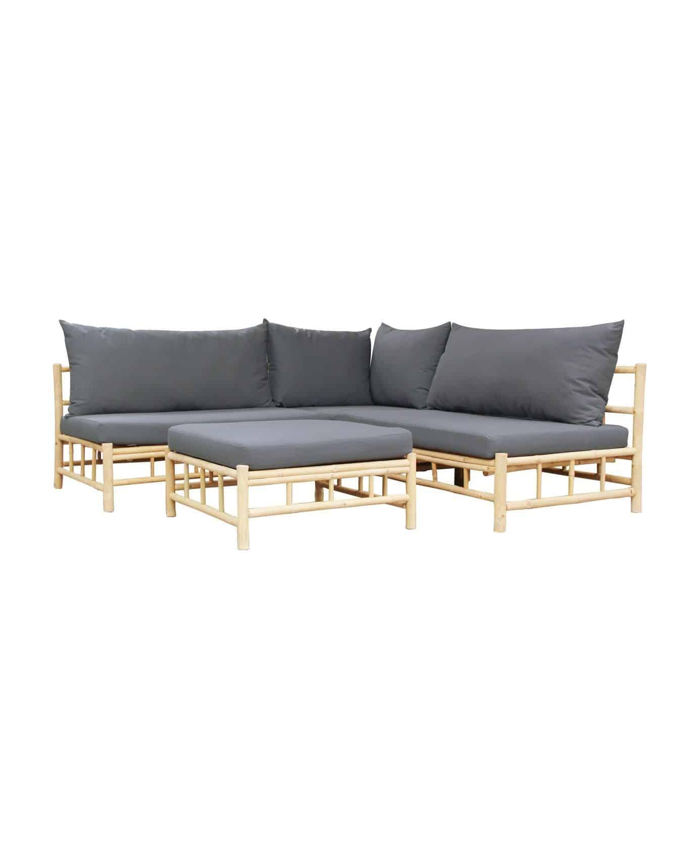 Bamboe tuinset vita chaise longue