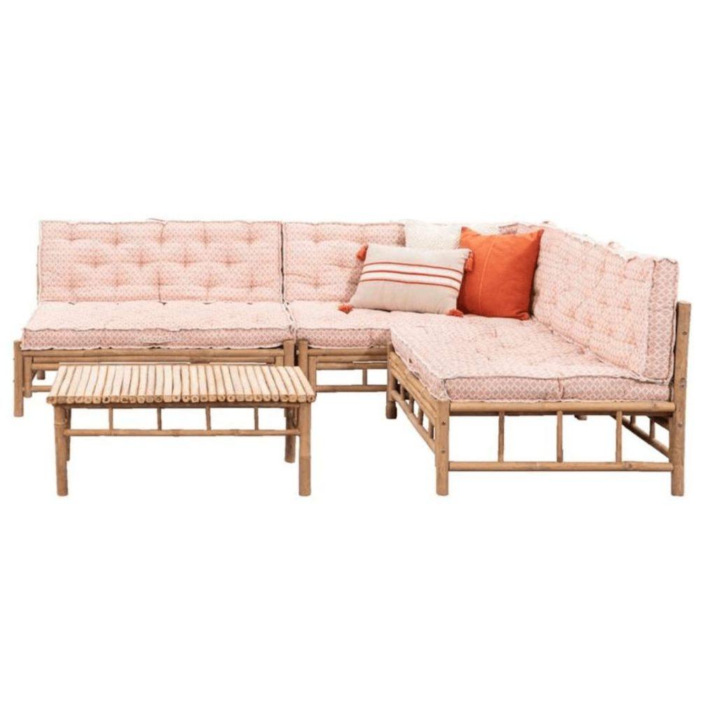 Bamboe loungeset tarifa 4 delig