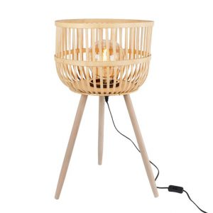 Bamboe tafellamp driepoot van dulaire