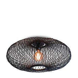 Bamboe plafondlamp cango zwart van Good&Mojo