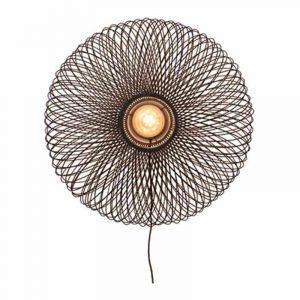 Bamboe wandlamp cango zwart van Good&Mojo