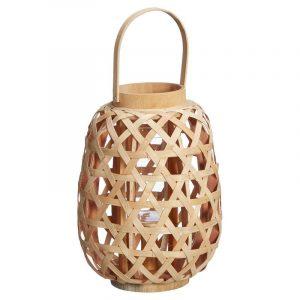 Bamboe lantaarn dole naturel van de kwantum