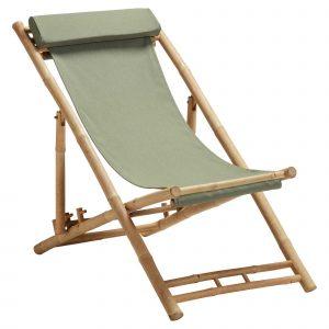 Bamboe strandstoel bruin van de kwantum