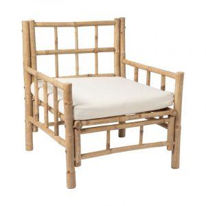 Bamboe fauteuil met kussen van de xenos