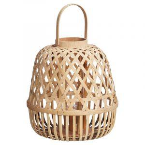 Bamboe lantaarn naturel van de kwantum