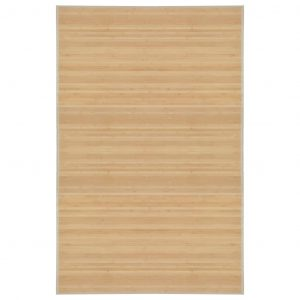 Bamboe tapijt naturel van vidaxl