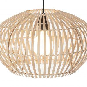 Brede bamboe lampenkap hector