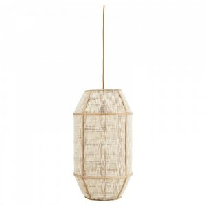 Linnen bamboe lamp van Madam Stoltz