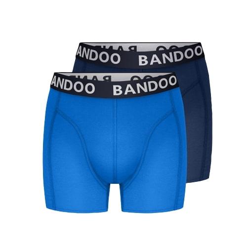 Bandoo bamboe boxershort oskar blauw kobalt