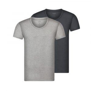 Bandoo bamboe shirt finn grijs
