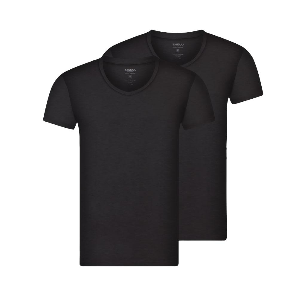 Bandoo zwart bamboe shirt finn