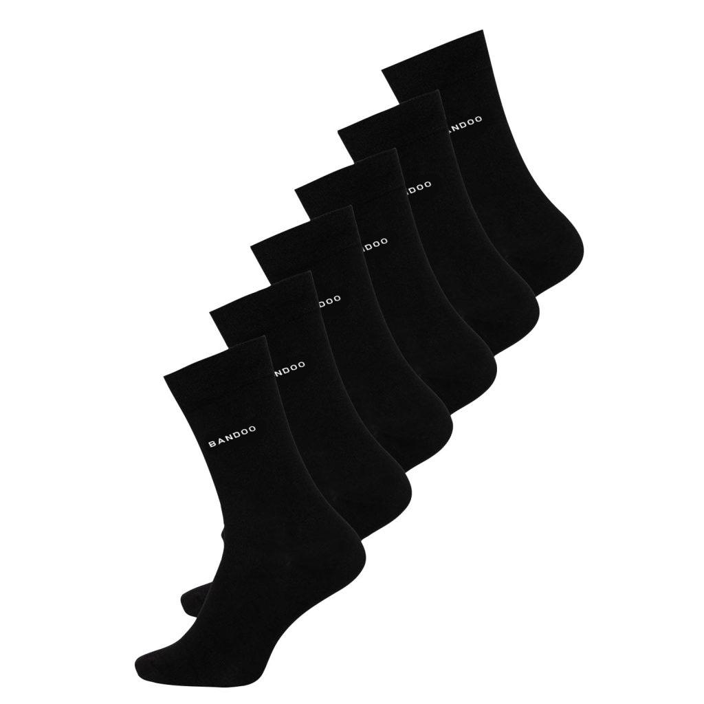 Bandoo bamboe sokken lars zwart