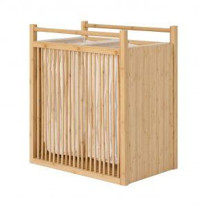 Dubbele wasmand van bamboe
