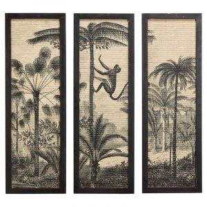 Bamboe wanddecoratie jungle jaro van de kwantum