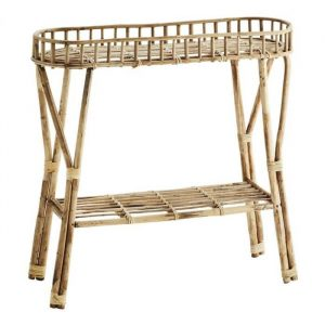 Bamboe bijzettafel naturel van madam stoltz