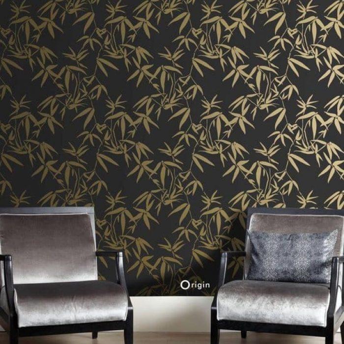 origin-bamboe-behang-bladeren-zwart-en-goud-sfeer